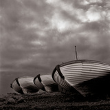 A Photo Taken in 1962 of Boat Hulls Resting on a Shore in Keflavik Photographic Print by Rex A. Stucky