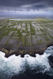 Ancient Stone Walls Pattern Inisheer Enveloped in the Atlantic Photographic Print by Jim Richardson