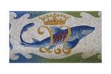"""""""Casa Bellesguard"""" . Detalle De Uno De Los Mosaicos. Barcelona. Cataluña Giclee Print by Antoni Gaudí"""