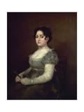 Lady With a Fan, 1806-1807, Spanish School Giclee Print by Francisco De Goya