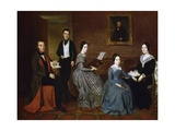 The Flaquer Family, 1842 Giclee Print by Joaquin Espalter Y Rull