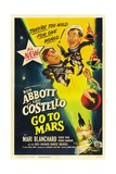 Abbott And Costello Go To Mars, 1953, Directed by Charles Lamont Giclee Print