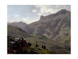 "Aguas Buenas ""Pyrenees"" Ca. 1882, Spanish School Giclee Print by Carlos De haes"
