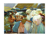 Women of Valencia At the Beach, 1915 Giclee Print by Joaquín Sorolla y Bastida
