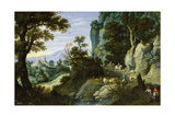 Rocky Landscape, 1616, Flemish School Giclee Print by Martin Ryckaert