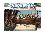 Snow White And the Seven Dwarfs, 1937, Directed by Walt Disney Giclée-tryk