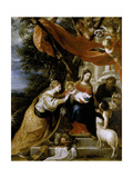 The Mystic Marriage of Saint Catherine, 1660, Spanish School Giclee Print by Mateo Cerezo