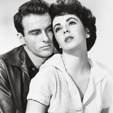 "Elizabeth Taylor, Montgomery Clift, ""A Place In the Sun"" Directed by George Stevens Photographic Print"