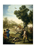 A Hunting Party, 1775, Spanish School Giclee Print by Francisco De Goya