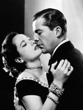 "Dana Andrews, Merle Oberon. ""Memory of Love"" 1948, ""Night Song"" Directed by John Cromwell Photographic Print"