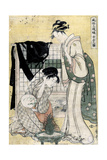 """Picture of the Middle Class """"Chûbon No Zu"""" 1794-1795, Japanese School Giclee Print by Kitagawa Utamaro"""