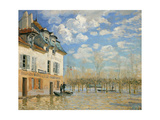 The Boat In the Flood', 1876 Giclee Print by Alfred Sisley