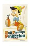 Pinocchio, 1940, Directed by Hamilton Luske, Ben Sharpsteen Giclée-tryk