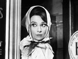 """Audrey Hepburn. """"Charade"""" 1963, Directed by Stanley Donen Fotodruck"""