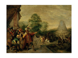 The Tower of Babel Giclee Print by Frans Francken the Younger