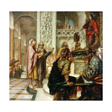 Jesus Among the Doctors In the Temple, 1686 Giclee Print by Juan De valdes leal