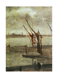 Grey And Silver: Chelsea Wharf, Ca. 1864-1868 Giclee Print by James Abbott McNeill Whistler