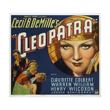 Cleopatra, 1934, Directed by Cecil B. Demille Giclee Print