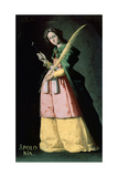 Saint Apolonia, 1636, Spanish School Giclee Print by Francisco de Zurbaran