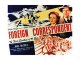 "Personal History, 1940 ""Foreign Correspondent"" Directed by Alfred Hitchcock Giclee Print"