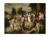 The Baptism of Christ, 16th Century, Italian School Giclee Print by Lambert Sustris