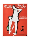 """My Uncle, 1958, """"Mon Oncle"""" Directed by Jacques Tati Giclée-tryk"""