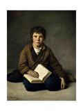 Un Chiquillo Sentado, 1859, Spanish School Giclee Print by Victor Manzano y mejorana