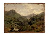 Cañada En El Puerto De Pajares, Ca. 1874, Spanish School Giclee Print by Carlos De haes