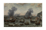 The Battle of Gibraltar, 25 April 1607, Ca. 1617, Dutch School Giclee Print by Adam Willaerts