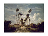 The Avenue At Middelharnis, 1689, Dutch School Impression giclée par Meindert Hobbema