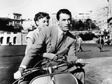 "Audrey Hepburn, Gregory Peck. ""Roman Holiday"" 1953, Directed by William Wyler Fotografisk tryk"
