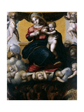 The Virgin And the Souls of Purgatory, 1517, Spanish School Giclee Print by Pedro Machuca