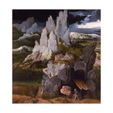 St. Jerome In a Rocky Landscape, 16th Century Giclee Print by Joachim Patiner