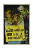 """Abbott And Costello Meet the Killer, Boris Karloff"" 1949, Directed by Charles Barton Giclee Print"