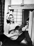 "Audrey Hepburn. ""Breakfast At Tiffany's"" 1961, Directed by Blake Edwards Fotografisk tryk"