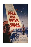 "Grave Robbers From Outer Space, 1959, ""Plan 9 From Outer Space"" Directed by Ed Wood Giclee Print"