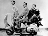 "Audrey Hepburn, Eddie Albert, Gregory Peck. ""Roman Holiday"" 1953, Directed by William Wyler Fotografie-Druck"