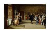Juan De Austria's Presentation To Emperor Carlos V In Yuste, 1869, Spanish School Giclee Print by Eduardo Rosales