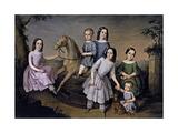 Retrato De La Familia Lara, 1832, Spanish School Giclee Print by Jose Roldan y martinez