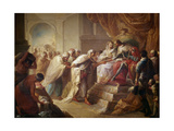 The Catholic Kings Receiving the Ambassadors of Fez, 1790 Giclee Print by Vicente Lopez portaña