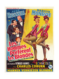 "Howard Hawks' Gentlemen Prefer Blondes, 1953, ""Gentlemen Prefer Blondes"" Directed by Howard Hawks Lámina giclée"