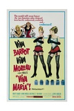 Viva Maria!, 1965, Directed by Louis Malle Giclee Print