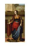 Saint Catherine of Alexandria, 16th Century, Spanish School Giclee Print by Fernando De la almedian yañez