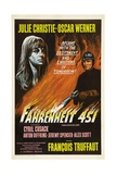 Fahrenheit 451, 1966, Directed by Francois Truffaut Giclee Print