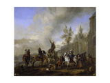 Partida De Cetrería, 1665-1668, Dutch School Giclee Print by Philips Wouwerman