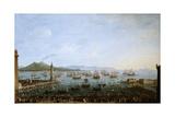 Carlos Iii Embarking In Naples', 1759, Italian School Giclée-tryk af Antonio Joli