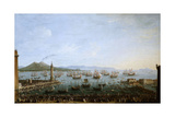 Carlos Iii Embarking In Naples', 1759, Italian School Giclee Print by Antonio Joli