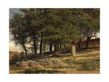 A Forest. Monastario De Piedra, 1857, Spanish School Giclee Print by Carlos De haes
