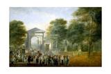 The Botanical Garden Seen From the Paseo del Prado, Ca. 1790, Spanish School Giclee Print by Luis Paret y Alcazar