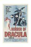 Dracula, Directed by Terence Fisher, 1958 Giclee Print
